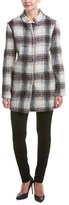 Kenneth Cole New York Plaid Wool-blend Peacoat.