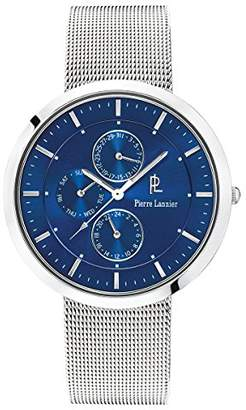 Pierre Lannier Mens Analogue Quartz Watch with Solid Stainless Steel Strap 220F168