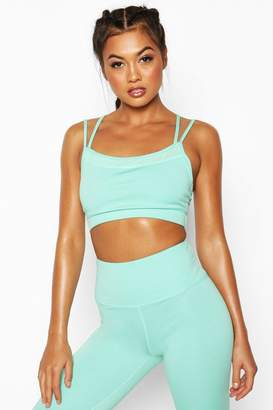 boohoo Fit Seamless Strappy Back Sports Bra