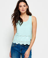 Superdry Beach Broiderie Shell Top