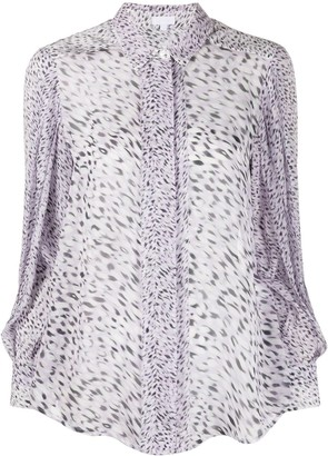 Lala Berlin Leopard Print Fitted Blouse
