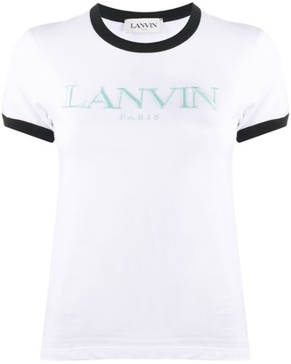 Lanvin logo-embroidered short-sleeve T-shirt