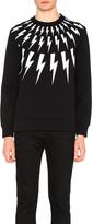 Neil Barrett Fair Isle Thunderbolt Print Sweatshirt