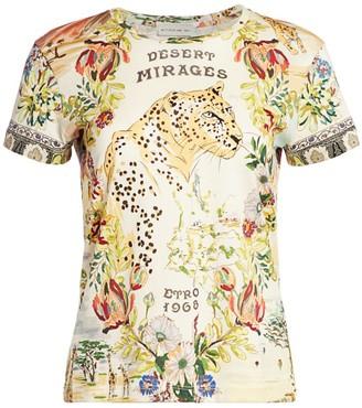 Etro Safari Print Short Sleeve T-Shirt
