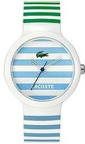 Lacoste Men's Goa 2010565 Two-Tone Polyurethane Quartz Watch with White Dial