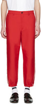 Gucci Red Vintage Trousers