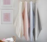 Pottery Barn Kids Jersey Metallic Star Hooded Towel, Bath Wrap, Gray