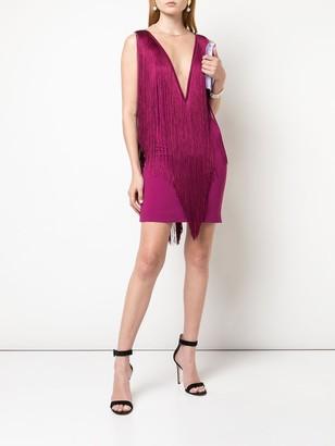 Stella McCartney Plunging Fringe Mini Dress