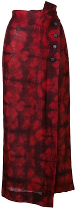 Romeo Gigli Pre-Owned 1990's floral wrapped skirt
