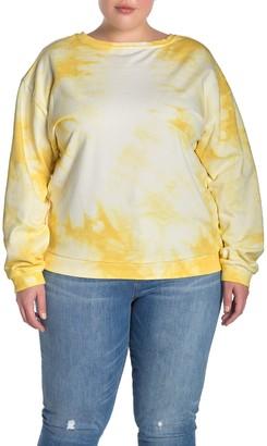 MelloDay Tie-Dye Crew Neck Sweatshirt (Plus Size)