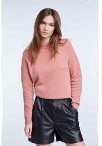 Set Fashion - Peachy Rose Cashmere Round Neck Jumper - 36