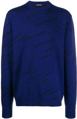 Balenciaga Diagonal logo sweater