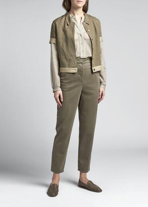 Giorgio Armani Linen Short-Sleeve Shirt