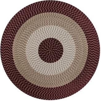 Better Trends Braided Burgundy Rug Rug Size: Round 6'