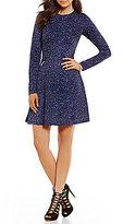 MICHAEL Michael Kors Tweed Print Ponte Knit A-Line Dress