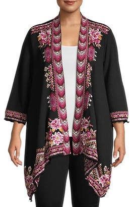 Johnny Was Floral Cotton-Blend Kimono
