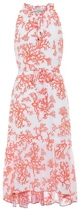 Heidi Klein Belize coral-print silk midi dress