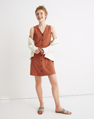 Madewell Sleeveless Button-Front Mini Dress