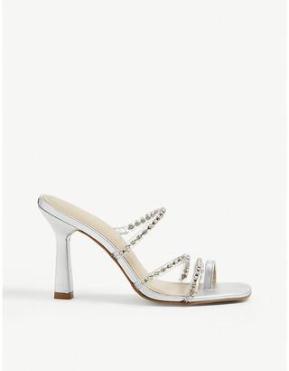 Carvela Goddess embellished faux-leather heeled mules