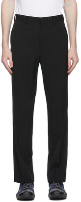 AURALEE Black Gabardine Trousers