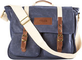 Asstd National Brand Personalized Waxed Canvas and Leather Messenger Bag