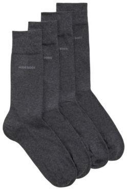 BOSS Two-pack of regular-length cotton-blend socks