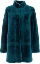 Genny Teal Fur Coat
