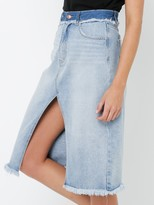 Interlude Split Midi Denim Skirt