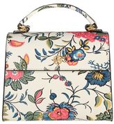 Tory Burch Parker Floral Small Satchel Leather