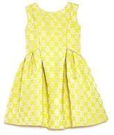 Us Angels Girls' Shimmer Brocade Bow Back Dress - Little Kid