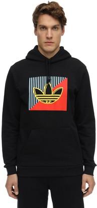 adidas Diagonal Logo Cotton Sweatshirt Hoodie