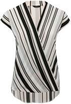 M&Co Stripe wrap top