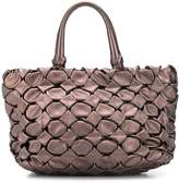 Prada Pre Owned maxi woven leather tote bag