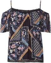 Dorothy Perkins Floral Mix Print Cold Shoulder Top