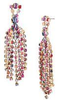 Betsey Johnson East Harlem Shuffle Crystal Chandelier Drop Earrings