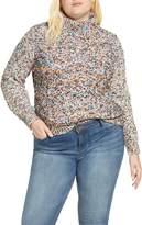 Caslon Mock Neck Nep Pullover Sweater