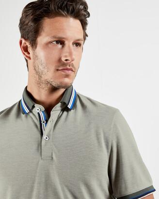 Ted Baker SHRED Stripe collar polo shirt