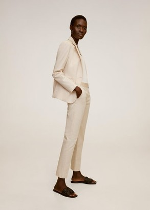 MANGO Buttoned soft blazer ecru - 2 - Women