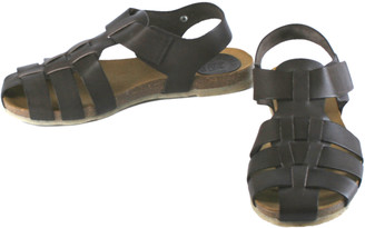 Jonny's brown braided sandal - 41 - Brown/Leather /Natural