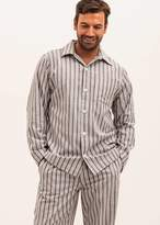 PJ Pan Men's Brushed Cotton Vintage Stripe Pyjamas