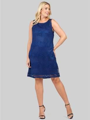M&Co Izabel Curve floral lace shift dress