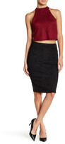 Wow Couture Embroidered Metallic Skirt