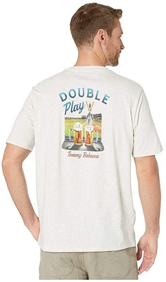 Tommy Bahama Double Play T-Shirt (Oatmeal Heather) Men's Clothing
