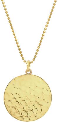 Jennifer Meyer Hammered Disc Pendant Necklace - Yellow Gold
