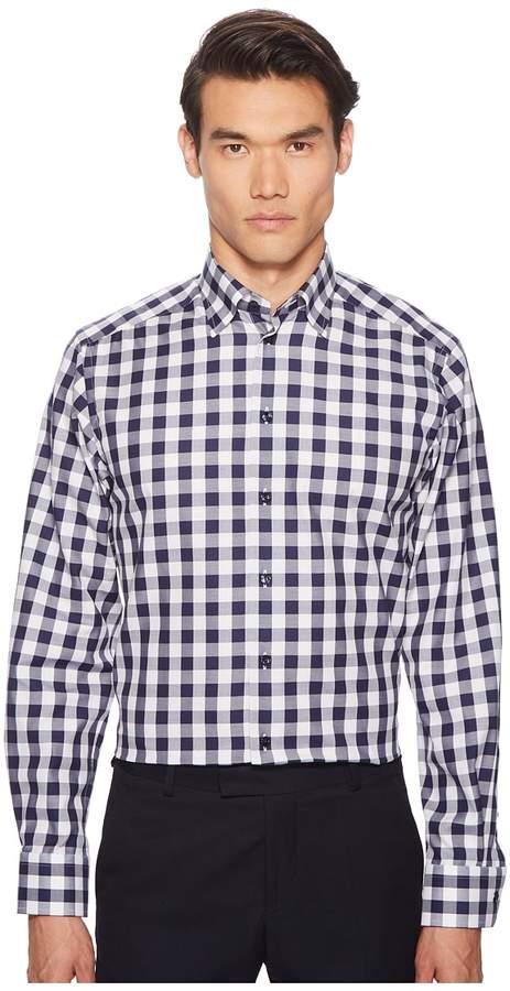 Eton Contemporary Fit Bold Plaid Shirt Men's Long Sleeve Button Up