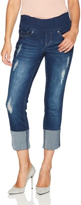 Jag Jeans Women's Lewis Straight Cuffed Pull On Jean