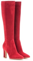 Gianvito Rossi Arlay 85 Suede Knee-high Boots
