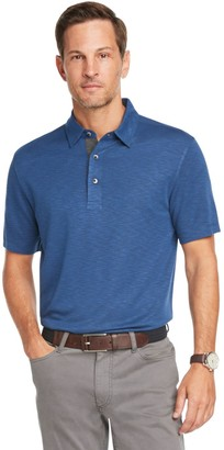 Van Heusen Men's Air Classic-Fit Solid Slubbed Polo