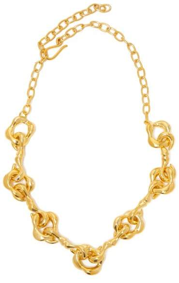 Sophia Kokosalaki Agrifi Hooks Ii Gold Plated Silver Necklace - Womens - Gold
