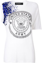 Filles a papa asymmetric embellished T-shirt - women - Modal - 0